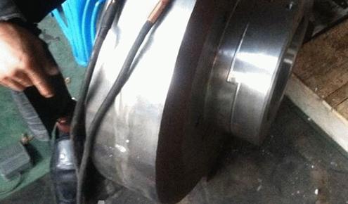 齿轮轴前端轴承套安装处磨损冷焊维修