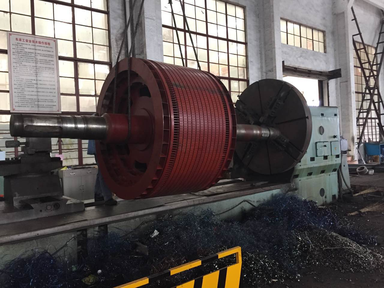 大型电机轴激光熔覆
