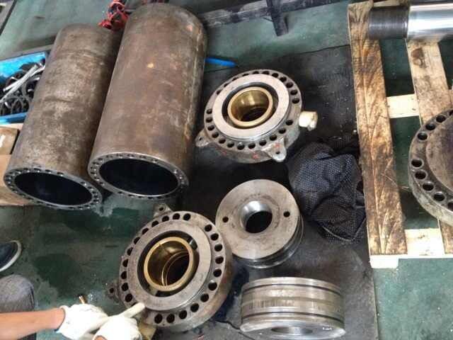 液压缸缸筒拉伤维修