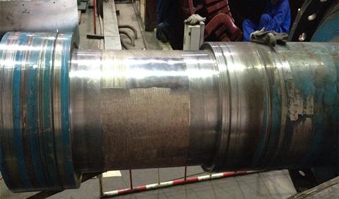 汽轮机转子轴颈磨损修复